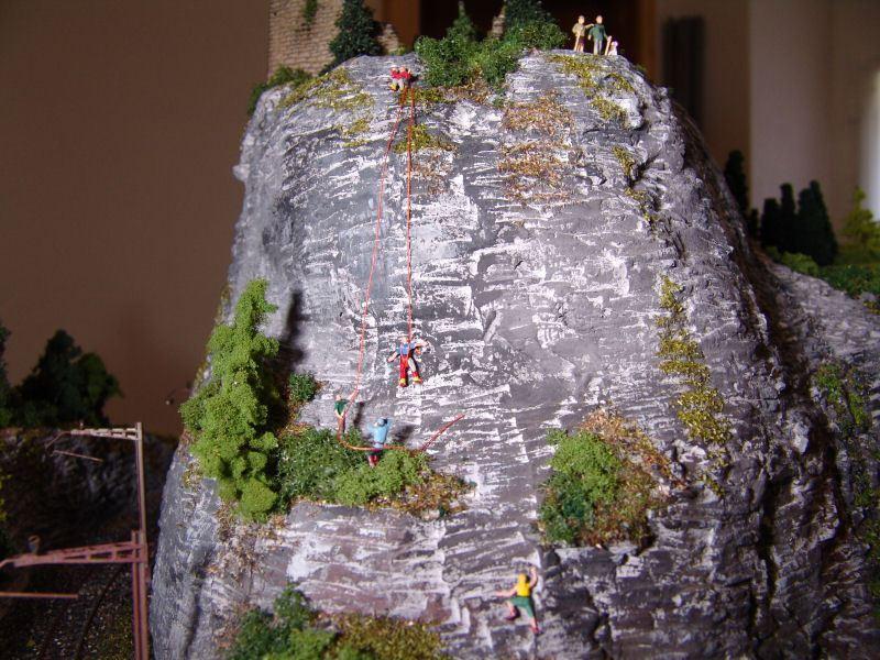 die Kletter aus dem nahen Längwil in der Übungswand