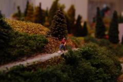 einsamer Wanderer unterwegs auf sicheren Pfaden