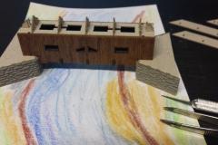 erste Stellproben - Holzbrücke
