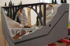 Grundform der Landschaft in 3D mit Alugitter