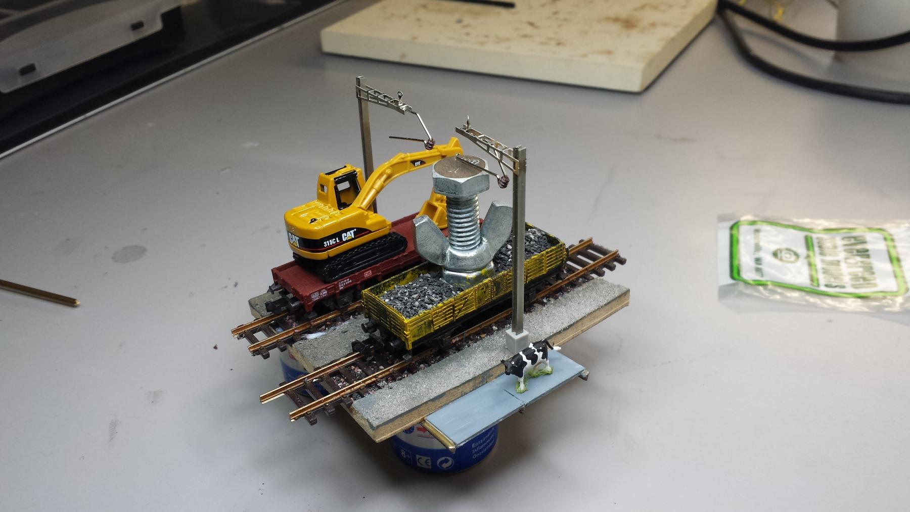 Prototyp des Brückenoberbaus