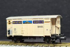 SBB, gedeckter Güterwagen K2, Brauerei Warteck